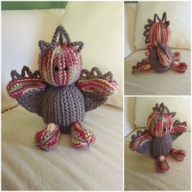 Crochet by Sara Santiago - amigurumi dragon