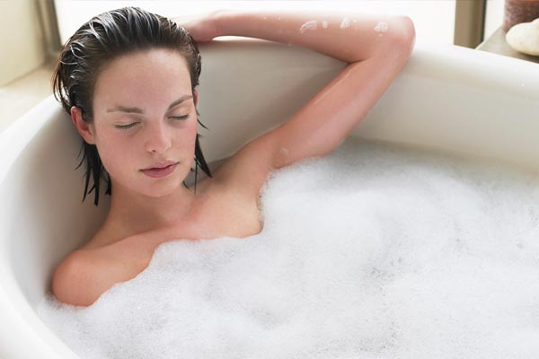 warm showers for muscles stiffness