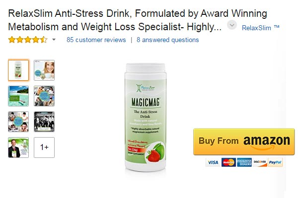 RelaxSlim Anti Stress Drink Magnesium for Muscle Spasms