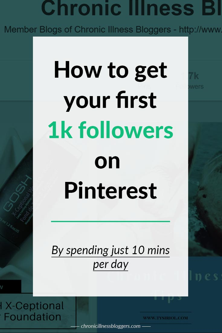 How to get your first 1k followers on Pinterest by spending just 10 mins per day