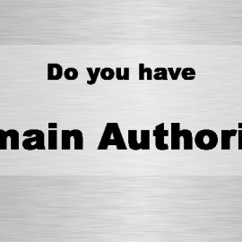 Do you have domain authority?