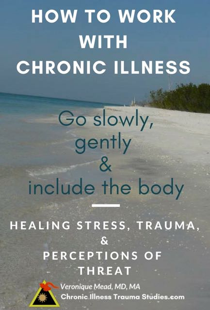 When using trauma therapies as an approach for treating chronic illness it is helpful to go slowly and gently. Slower is Faster. Listening to the body is valuable. #Treatment #ME/CFS #asthma #MS #diabetes. Working with the perception of threat. A post in the chronic illness blog, Chronic Illness Trauma Studies