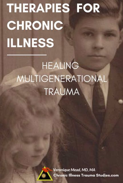 Therapies for chronic illness. Healing multigenerational trauma - adverse events in parents' and grandparents' lives. Supported by research by Rachel Yehuda on Holocaust survivors and their families. The effects are not psychological, rather science shows it's about epigenetics. #ME/CFS #asthma #type1diabetes #autoimmunedisease #fibromyalgia