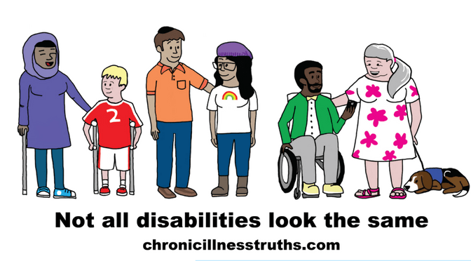 Not all disabilities look the same logo