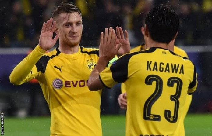 Marco Reus and Shinji Kagawa were among the goals for Borussia Dortmund