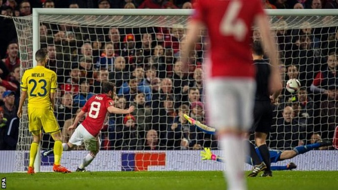Juan Mata scored with his first shot of the game