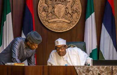 FILE PHOTO: Nigeria's Vice President, Prof Yemi Osinbajo and President Muhammadu Buhari have a synergy that works