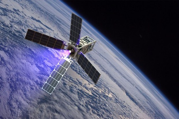 Nano satellite in space