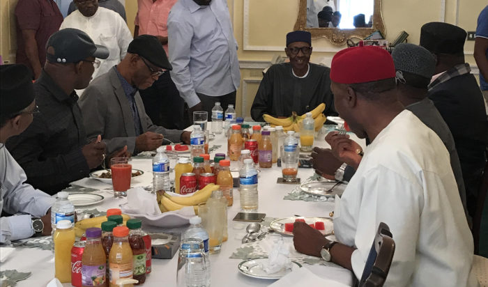 Buhari meets APC leaders, governors in London