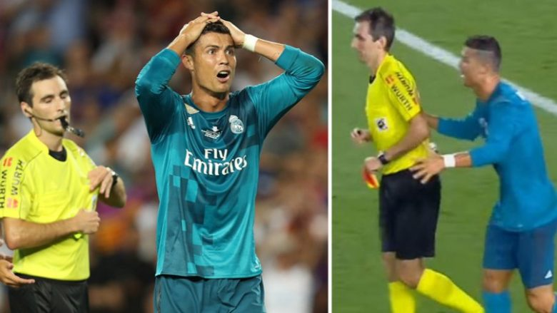 Cristiano Ronaldo lashed out at the referee after being shown a second yellow against Barcelona