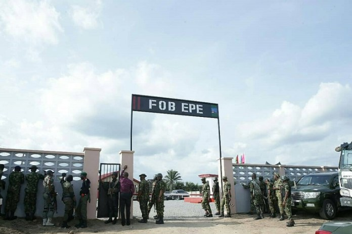 Forward Operating Base, FOB Epe was commissioned on Democracy Day, 29 May 2018