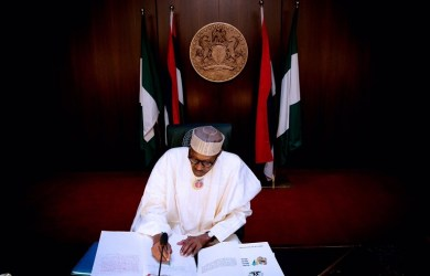 President Muhammadu Buhari signs 2019 appropriation bill into law