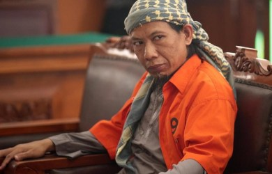 Indonesian cleric Aman Abdurrahman, also known as Oman Rohman has been sentenced to life for masterminding a terror attack