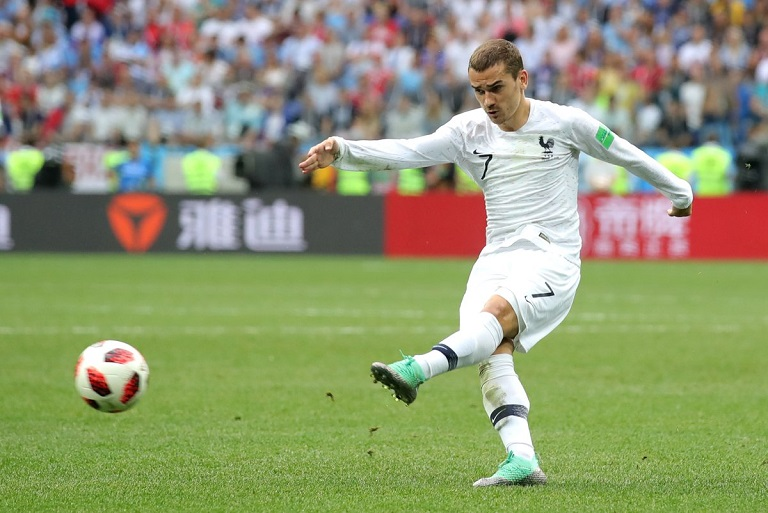 Fernando Muslera fumbled Antoine Griezmann strike as France took a 2-0 lead