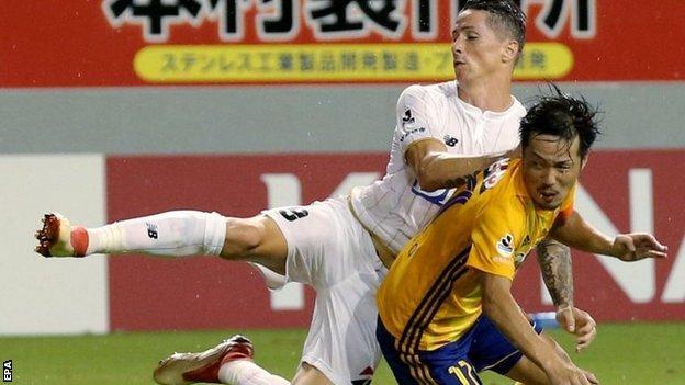 Fernando Torres lost on his J-League debut with Sagan Tosu
