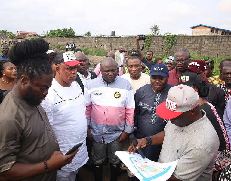 Governor Akinwunmi Ambode visited Maracana Stadium in Ajegunle, Lagos