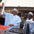 President Muhammadu Buhari votes in the 2015 presidential election in Daura, Katsina, northern Nigeria