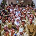 President Muhammadu Buhari welcomed NYSC members to his hometown of Daura in Katsina state
