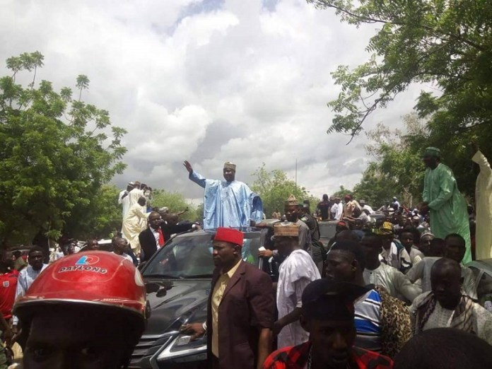 APC leader Senator Aliyu Wammako held a mega rally in Sokoto days after protege Governor Aminu Tambuwal defected to PDP