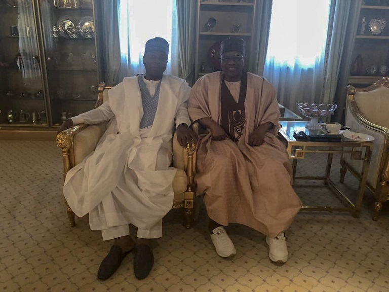 Senator Bukola Saraki labels former dictator Ibrahim Badamasi Babangida his father and his leader