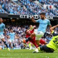 Sergio Aguero scored his 13th Manchester City hat-trick in 6-1 win over Huddersfield