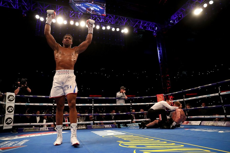 Anthony Joshua is the first fighter to knock out Alexander Povetkin