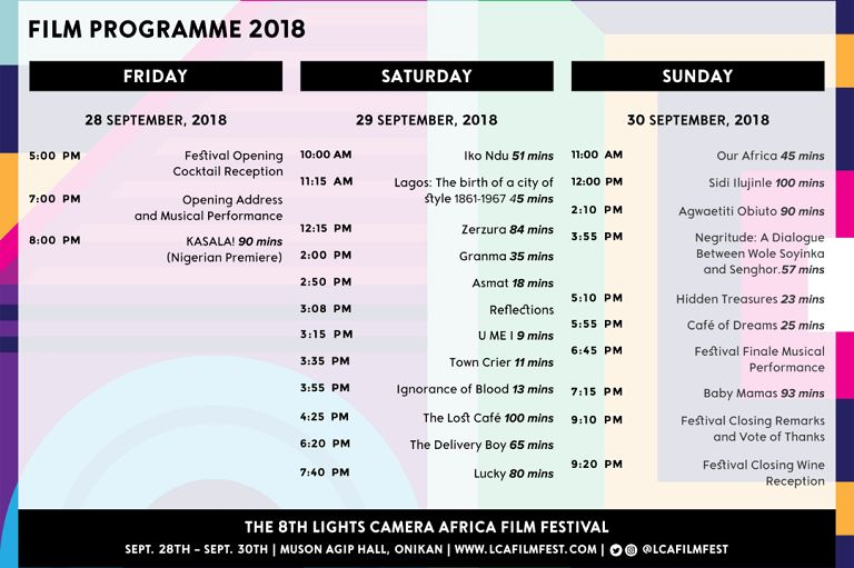 The 8th Lights Camera Africa film festival