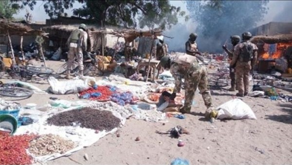 Boko Haram ransacked Mairari and Femari communities killing at least one person and stealing food items