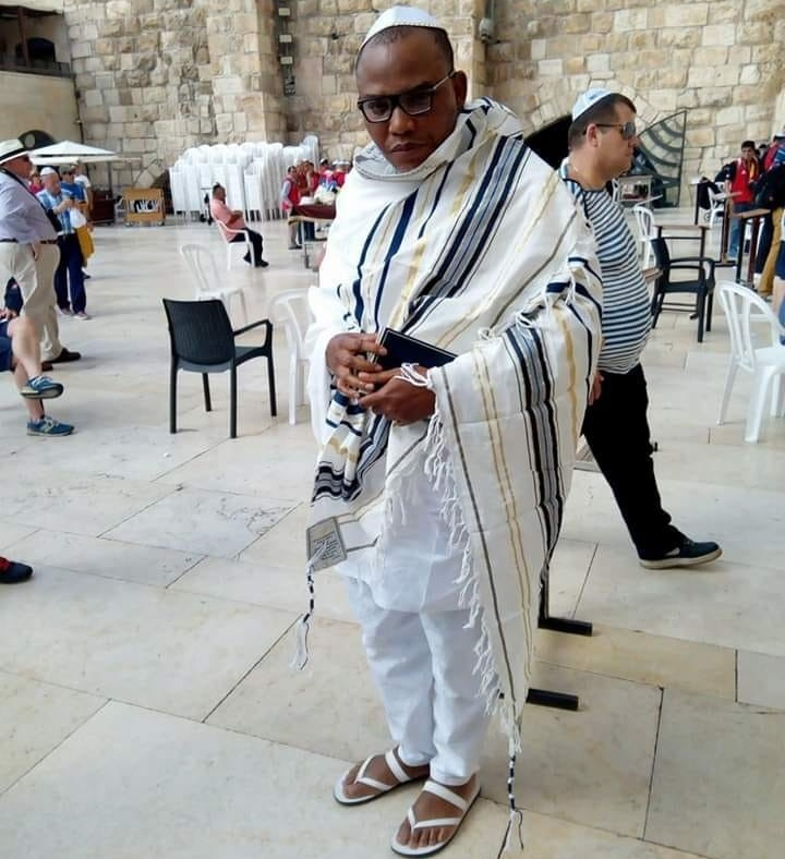 IPOB leader Nnamdi Kanu has been videoed in Israel during pilgrimage