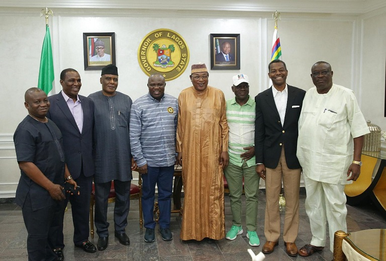 Members of APC National Working Committee Panel for the Lagos Primaries visited Governor Akinwunmi Ambode