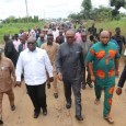 Peter Obi, Governor Okezie Ikpeazu and Sen Eyinnaya Abaribe visited the Osisioma pipeline inferno site in Abia