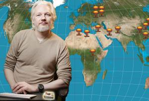 Assange addressed the world via teleconference from the Ecuadorian Embassy