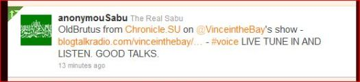 Sabu loves chronicle.su - as long as we're preaching the party line
