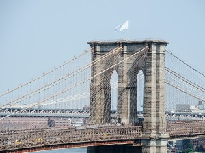 Art Jihad, underground Brooklyn hipster Islamists, takes credit for raising the white flag over Brooklyn Bridge