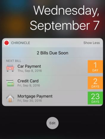 Chronicle's new widget shows you more information than ever before.