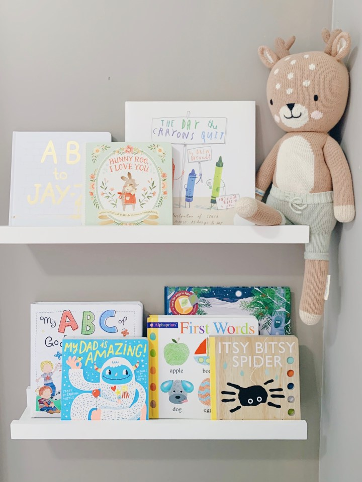 Nursery Bookshelves: Winter 2020