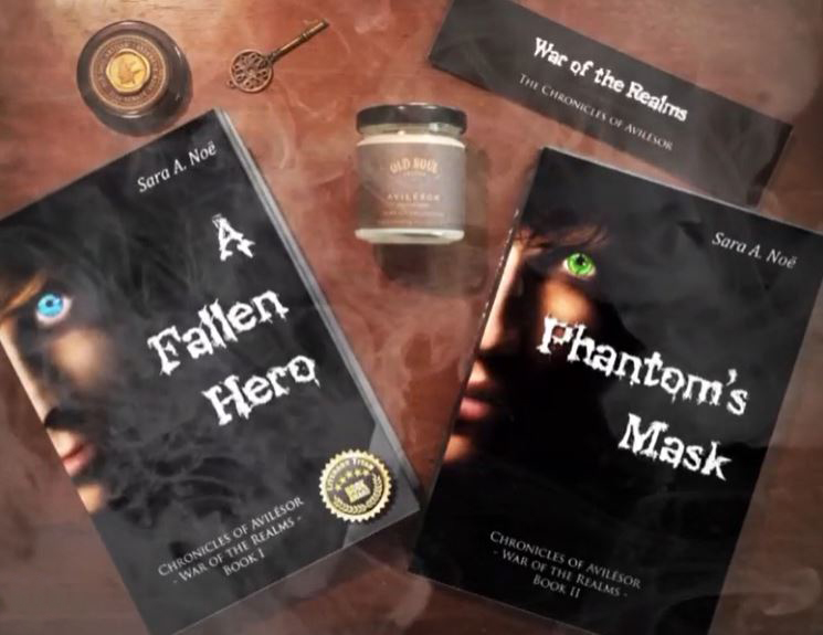 A Fallen Hero and Phantom's Mask #bookstagram by @kayla.m.ware