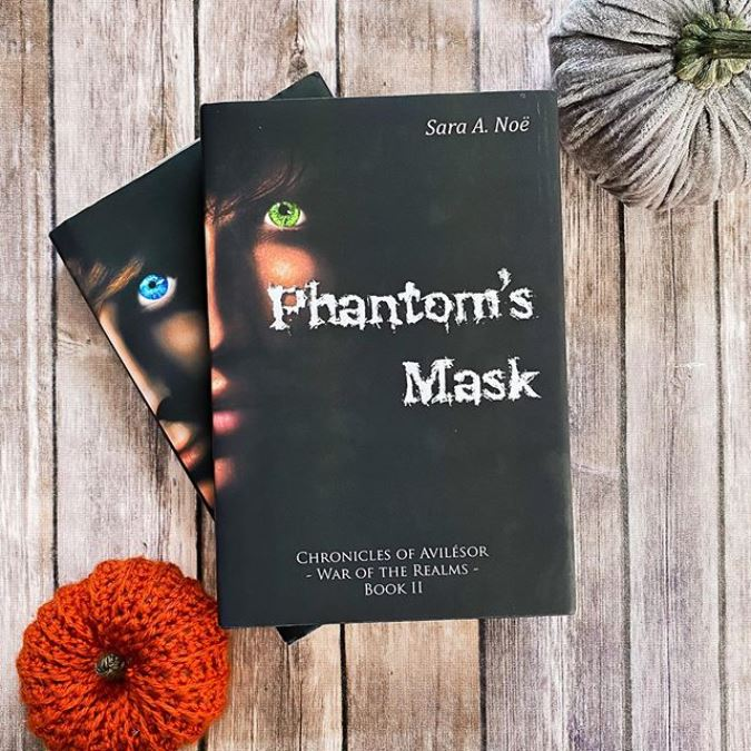 A Fallen Hero and Phantom's Mask #bookstagram by @bmbookcase