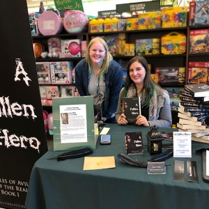 Author Sara A. Noe with a fan at Barnes and Noble book signing for A Fallen Hero
