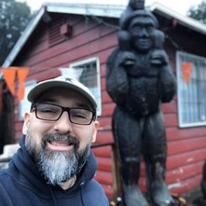 Carlos at the Bigfoot Discovery Museum in Felton, CA 2019