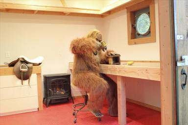 Daniel Oster as Bigfoot in Workshop