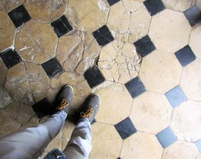 The floors and walls of the 16th century church had stories to tell...