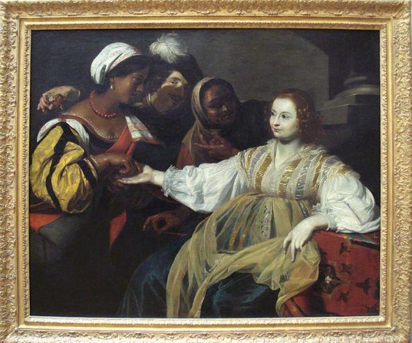 """""""La diseuse de bonne aventure""""Nicolas Régnier, 1626"""