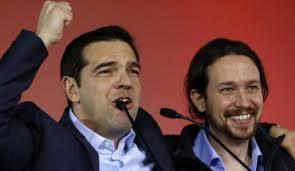 Le Grec Alexis Tsipras et son ami l'Espagnol Pablo Iglesias: ces deux là peuvent faire éclater l'Europe.