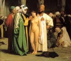 marché aux esclaves en Afrique du Nord au début du XIX ème siècle.