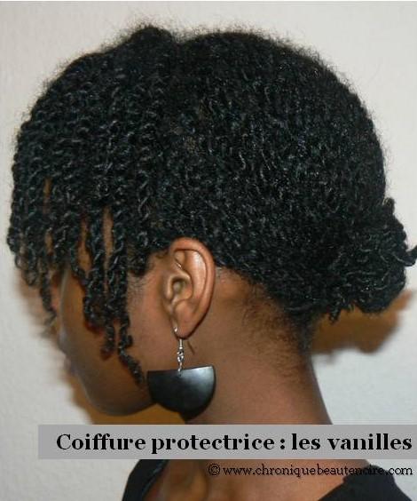 Routine vanilles sur cheveux naturels