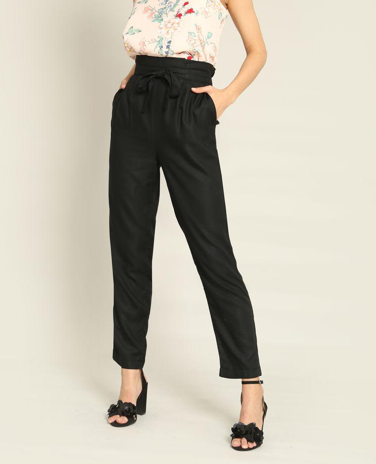 pantalon fluide noir pimkie