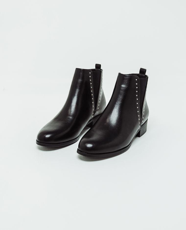 bottines cloutées en faux cuir noir pimkie