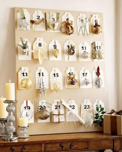 calendrier décoration DIY