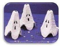 halloween fantome en boite oeuf